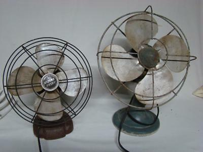 Vintage Metaln Electric Fans Parts or Repair Wizard Husky & Polar Cub Lot of 2