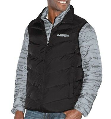 Men's Nfl Oakland Raiders G-Iii 3-In-1 System  Quilted Vest Jacket Xxlarge 2Xl