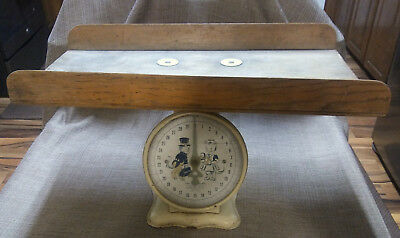Antique Nursery Baby Scale With Wood Weighing Basket, Jay Bee, Retro Rare