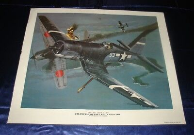 World War 2 Art Print Chance-Vought F 4U Corsair 19x23 Laminated