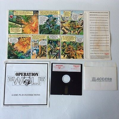 Taito Operation Wolf (flat) for Commodore 64/128 C64 C128 Vintage 1988 Untested