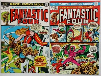 THE FANTASTIC FOUR #133 and #140 - 1973 - VFN and FN