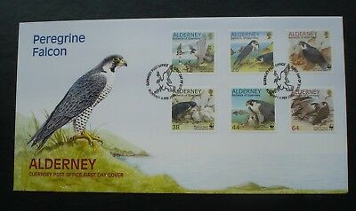 """Alderney, Guernsey. First Day Cover, """"Peregrine Falcon"""" Issued 4th February 2000"""