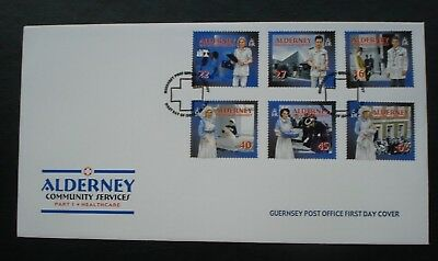 """Alderney, Guernsey. First Day Cover, """"Community Services"""" Part 1 26th April 2001"""