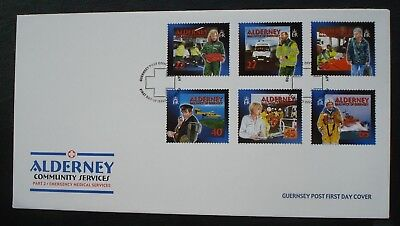 """Alderney, Guernsey. First Day Cover, Part 2 """"Community Services"""" 17 October 2002"""