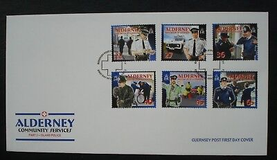 Alderney, Guernsey. First Day Cover, Community Services Part 3 16th Oct 2003.