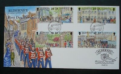"""Alderney, First Day Cover """"Garrison Island"""" Part 2 Issued 10th November 1998."""