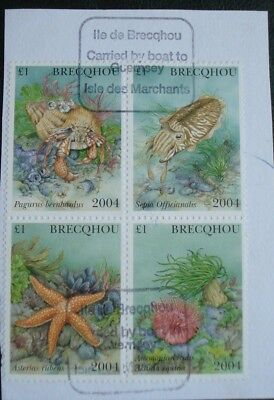 Brecqhou, Guernsey. A Block Of Four Used Stamps, 2004.
