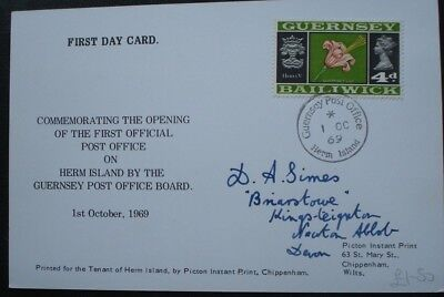 Herm Island, Guernsey. First Day Card, Opening Of The Post Office On Herm.