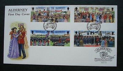 """Alderney, First Day Cover, """"Garrison Island"""" Part 4, Issued 19th October 2000"""