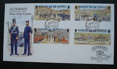 """Alderney, First Day Cover, """"Garrison Island"""" Part 3 Issued, Issued 19th Oct 1999"""
