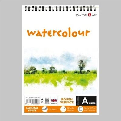 Watercolour Rough Surface Pad Drawing Artist Paper on Spiral Book - 180gsm