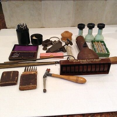 Large Lot Of Antique Watch Repair Tools