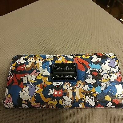 Disney Parks Loungefly Mickey Mouse and Friends Clutch Wallet New TAGS