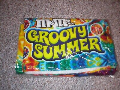 M&M's Brand Groovy Summer Beach Towel Company Promotion NEW