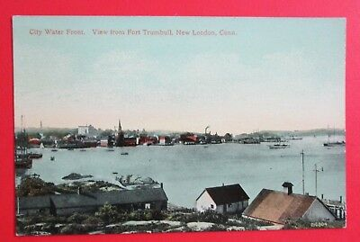 Water Front from Fort Trumbill New London CT Unposted DB Postcard
