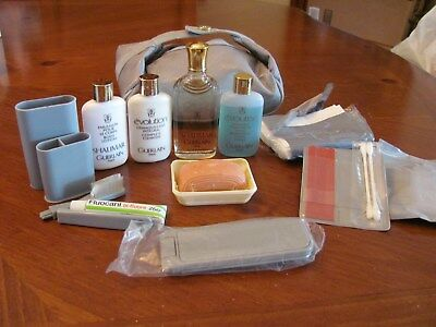 Swissair 1St Class Gift Shalimar Edc And Lots Of Adl Accessories In Zipper Case