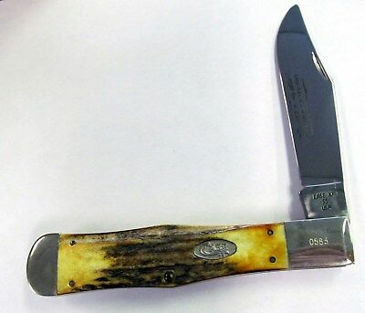 Case XX 1989 ABCA 1 of 2,500 Stag Folding Knife, Coke Bottle, 51050, Vintage USA