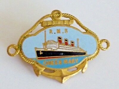 RMS Queen Mary Queen of the Sea Cunard White Star Line Enamel Pin!