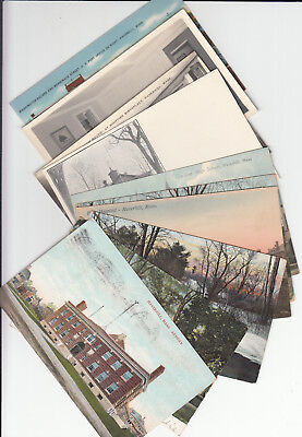 Lot of 10 Vintage Era Haverhill Massachusetts Postcards Essex County MASS MA