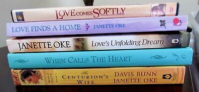 Lot Of 5 Janette Oke Books & Dvd Love Comes Softly When Calls The Heart + More