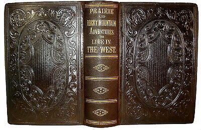 1860 Old West Indian Massacre Pioneer Buffalo Hunt Fur Trade Lds Gold California