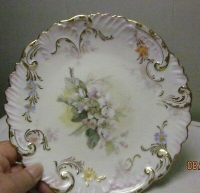 Antique Vintage Hand Painted Dresden Plate Flowers