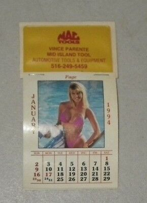 1994 Mac Tools Swimsuit Calendar - Complete - Unused