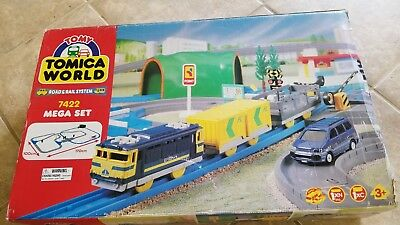 Tomy Tomica 7422 Road & Rail System Mega Set - In Box! - Complete! Tested!
