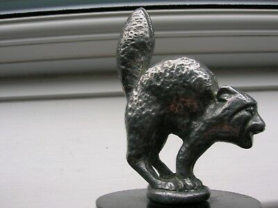 Angry Cat Car Mascot Probably Mid 1920's Ideal For Light Car/Motorcycle