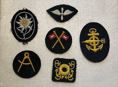WW2 German Navy Patches Lot Of 6
