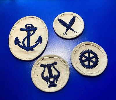 WW2 German Navy Patches Lot Of 4
