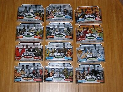 Star Wars Galactic Heroes sealed blister packs 12 differents sets
