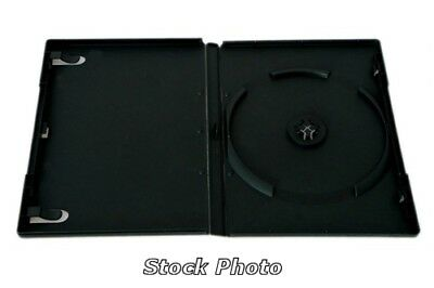 DVD Plastic Case - Black Single Disk Style with Transparent Cover (BOGO)