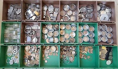 Vintage Omega Watch Movements Cases Bands Dials Parts Lot Of Over Than 800pcs