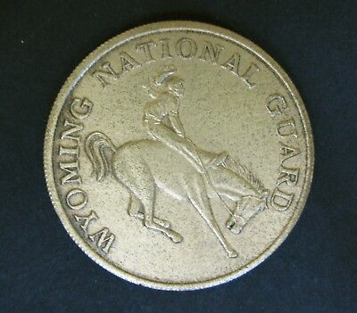 Vintage Wyoming National Guard 1 Star 2 Star Challenge Coin