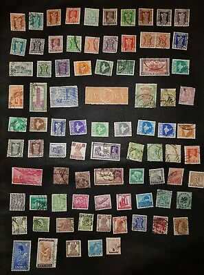 India stamp collection:83 different