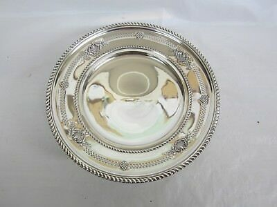 Birks Sterling Large Footed Compote or Tray Pierced  8 and 5/8 inches  333 grams