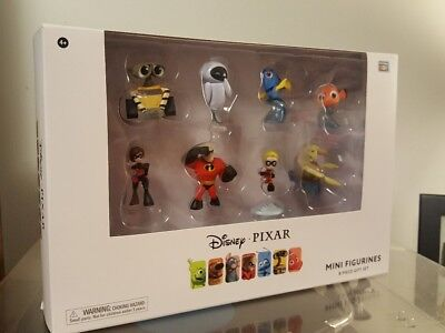 Disney Pixar Mini Figurines 8-Piece Gift Set - Nemo, Dory, WALL-E - New in Box