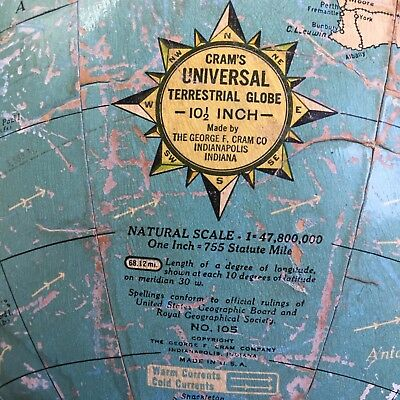 Pre-war Cram's Universal Globe. Great condition. Cool item for trendy cafe!