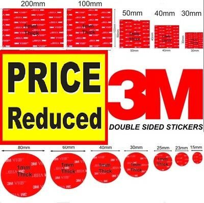 Large Double Sided Sticky 3M Command Glue Stickers Heavy Duty for Wall Mounts