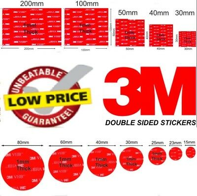 Double Sided Adhesive Sticky 3M Glue Pads/Stickers Extra Strong Heavy Duty Cheap