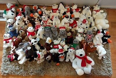 Coca Cola Plush International and regular LOT of 55 Most with tags bean bag