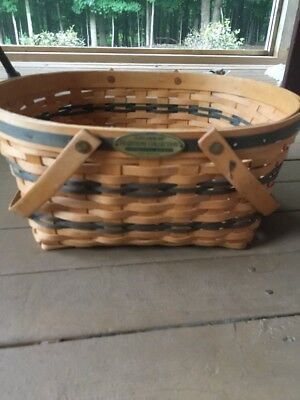 Longaberger 1996 Traditions Community Basket with Protector