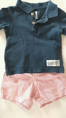 Baby Boys Country Road Top & Shorts Set size 000 (3-6 months)