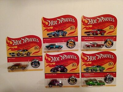 Hot Wheels 50th Anniversary *Redlines* Complete set of 5 - LTD available to ship