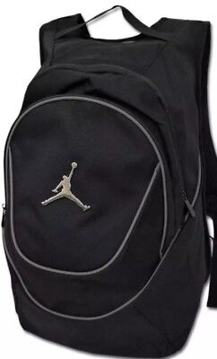 c0d2b998c0dc Nike Jordan Jumpman Logo Black Backpack School Book Bag Gym Duffle MSRP 50  NWT
