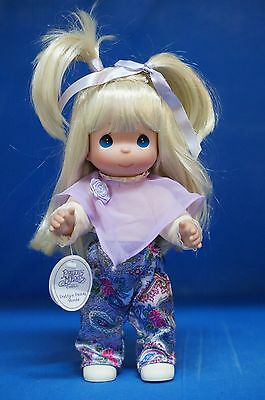 """Precious Moments 12"""" Vinyl Doll Signed 4400 Pretty in Paisley Blonde  (B)"""
