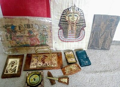 Antique Egyptian Collection, Desk Accessories, Stone Art, Paintings, Wallets