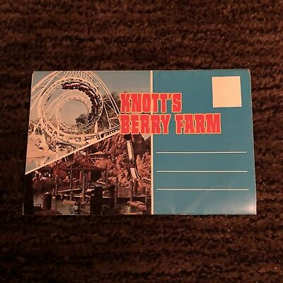 Vintage Knott's Berry Farm Fold Out Post Card - 1970s